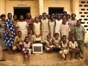 This primary school received their first computer for 2,300 children.