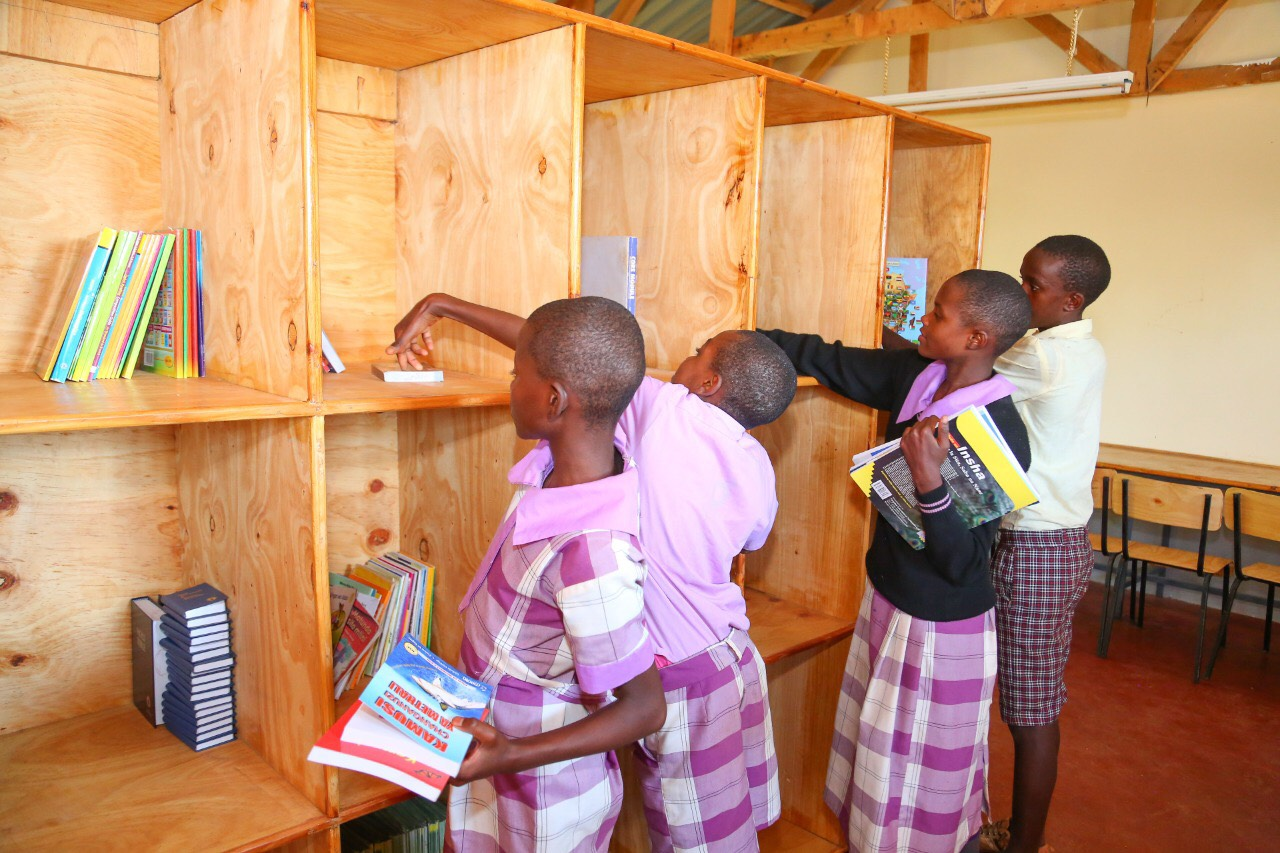 The newly built library at Uamani Primary School will be stocked with books from this project