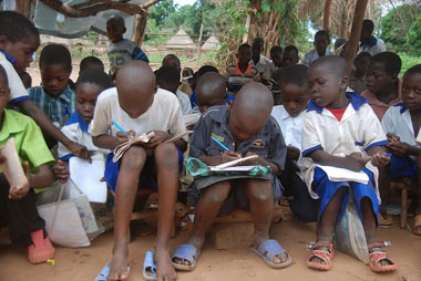 Students in South Sudan.