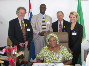 5.	The BFA team also met with the Nigerian ambassador to the Gambia, , who later joined them for a leg of their journey.