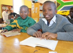 South African students engage with new donated learning materials