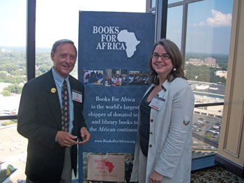 Lane Ayres, Director of BFA's Jack Mason Law & Democracy Initiative, and Lisa Heller, Managing Partner of RKMC's Atlanta office, at the June 2010 reception welcoming BFA to the Atlanta area.