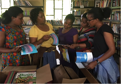 Primary school teachers in Tanzania look forward to using new teaching materials